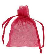 10 Hot Pink Chiffon Favour Bags
