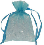 10 Turquoise Chiffon Favour Bags