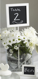 Shabby Chic Table Number Holders Chalkboard