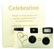 Ivory and Gold Hearts Single Use Disposable Camera 5 Pack
