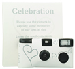 White and Silver Hearts Single Use Disposable Camera 10 Pack