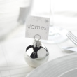 Silver Bauble Place Card Holder 6 Pack