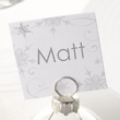 Snowflake Place Name Cards