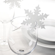 Snowflake Glass Place Name Cards