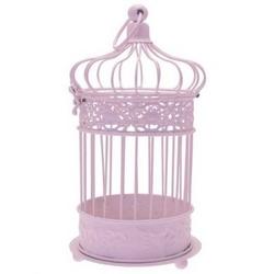 Large Pink Bird Cage