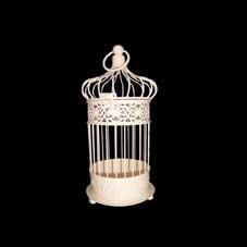 Small Ivory Round Bird Cage