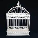 28x20x47cm Cream Bird Cage