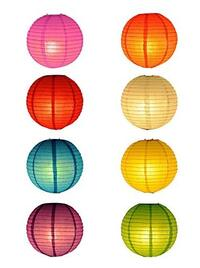 Coloured Paper Lanterns