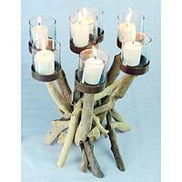 Driftwood Large Candle Holder