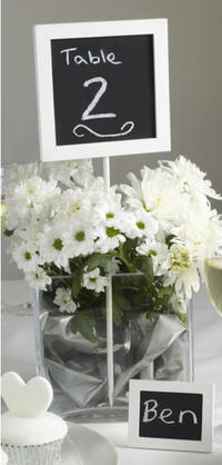 Chalkboard Table Number Holder